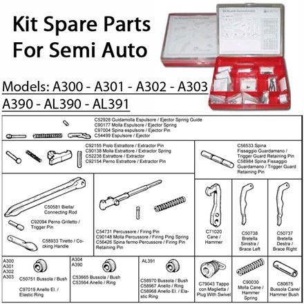Kit Spare Parts For Semi Auto from A301 - A302 - A303 - A300 - AL391