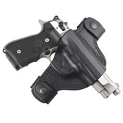 Beretta Snaps leather black holster - 92 Series