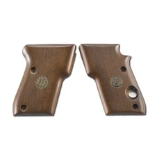 Beretta 21 Bobcat Wood Grips with medallion