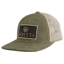 Beretta Flat Bill Patch Trucker - Green & Khaki
