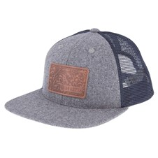 Engraved Patch Flat Bill Trucker Hat