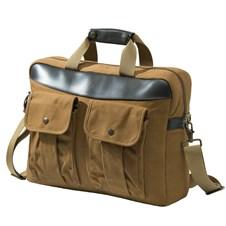 Spice Brown Waxwear Briefcase
