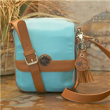 Casual Carrie Turquoise Crossbody Compact