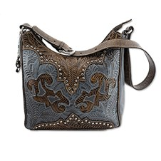 Women's Conceal Carry Purse - Denim Leather