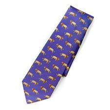 Beretta Lion Pattern Silk Tie