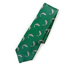 Beretta Salmon Pattern Silk Tie