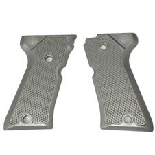 Beretta 92/96 Compact Aluminum Checkered Grips, Inox