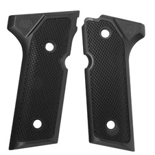 Beretta 92/96 VERTEC Aluminum Checkered Grips, Black