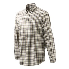 Beretta Classic Shirt - White & Brown Check