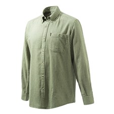 Beretta Flannel Shirt - Light Green & Beige Plaid