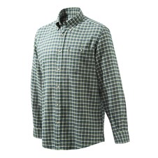 Beretta Flannel Shirt - White, Blue, & Green Check