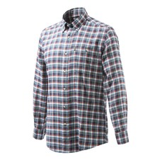 Beretta Flannel Shirt - Navy & Red Plaid