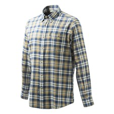Beretta Flannel Shirt - Blue & Beige Plaid