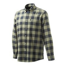 Beretta Flannel Shirt - Black & Green Plaid