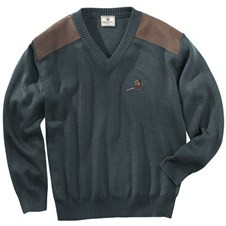 Beretta V-Neck Sweater w/ Pheasant