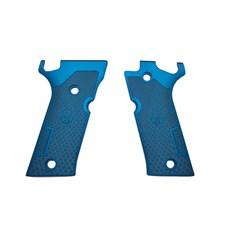 Beretta 92X Performance Match Aluminum Grips - Blue