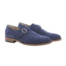 Beretta Blue Suede Man Shoes with Buckle