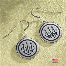 Beretta Trident Sterling Silver Dangle Earrings