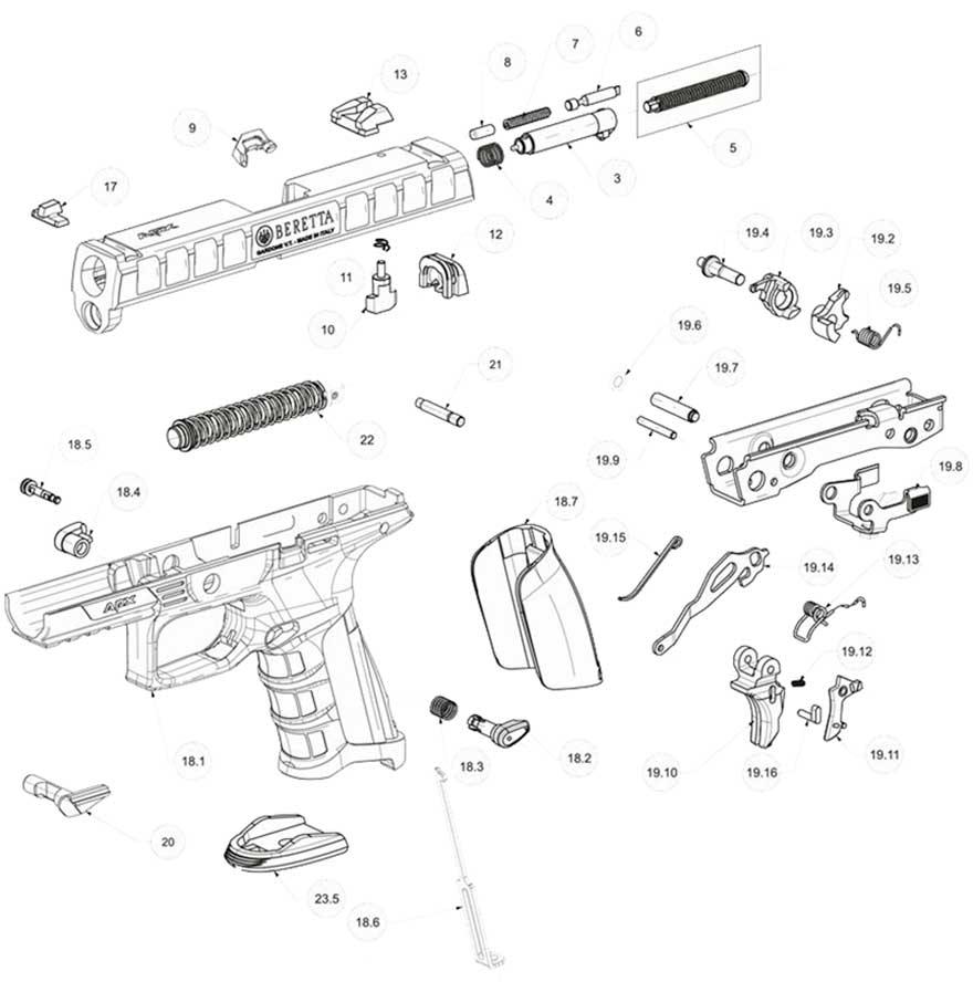 ar 15 trigger assembly exploded diagram