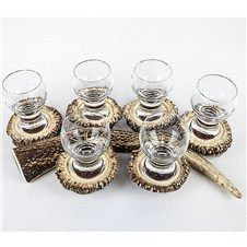 Stag Horn Liqueur Glass Set