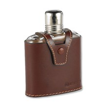 Glass Flask w/Leather Cover