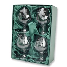 Engraved Brandy Glasses