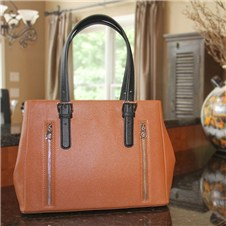 Casual Carrie Block Satchel