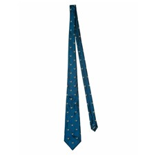 Beretta Tie with Pheasant - Bright Blue