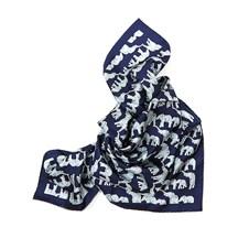 "Beretta Elephant Print 36"" Silk Square Scarf"