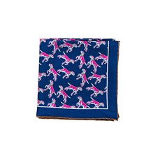 "Beretta Pointer Print 27"" Silk Square Scarf"