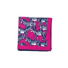 "Beretta Zebra Print 27"" Square Wool & Silk Scarf"