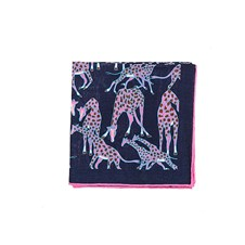 "Beretta Giraffe Print 27"" Square Wool & Silk Scarf"