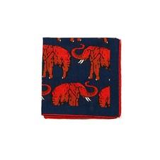 "Beretta Elephant Print 27"" Square Wool & Silk Scarf"