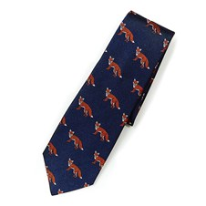 Beretta Fox pattern Silk Tie
