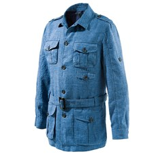 Beretta Blue Denim Linen Safari Jacket