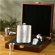 Beretta Set of 4 Glasses, Flask & Funnel