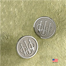 Beretta Trident Sterling Silver Post Earrings