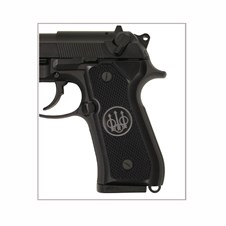 Beretta 92 Series Aluminum Checkered Grips w/ Trident Logo