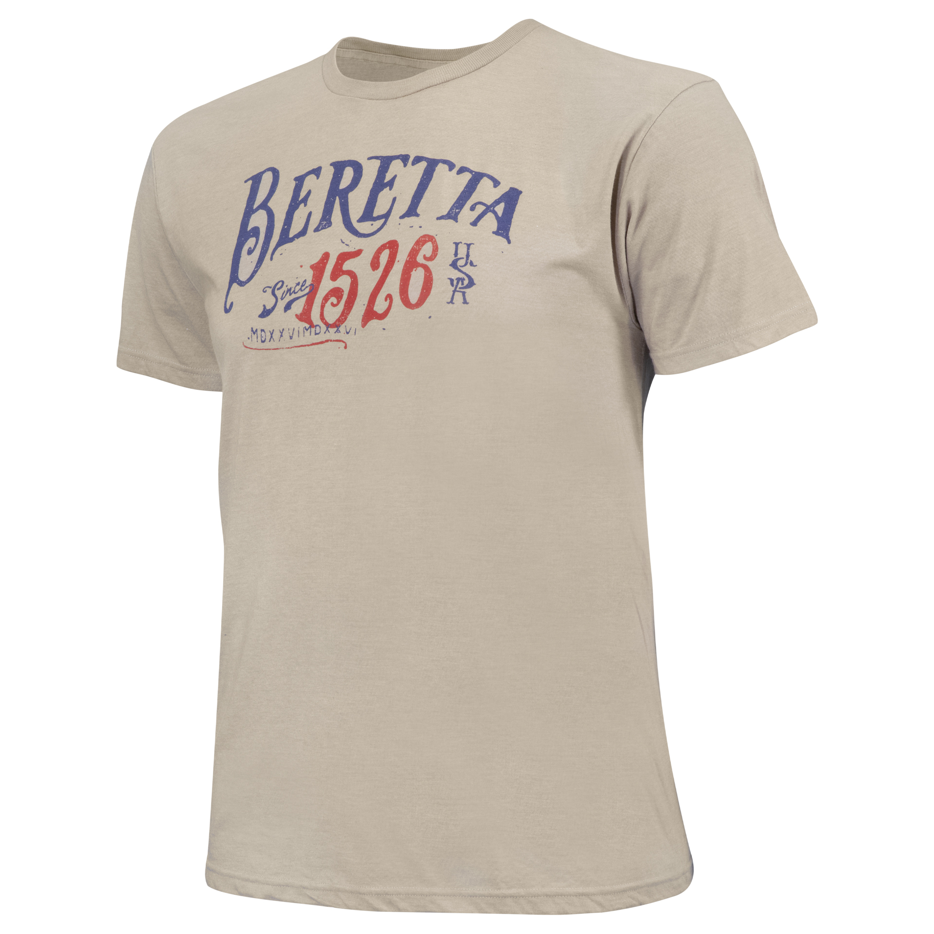 Image of BerettaUSA | 1526 Logo T-Shirt Stone, Cotton, Size: 2XL