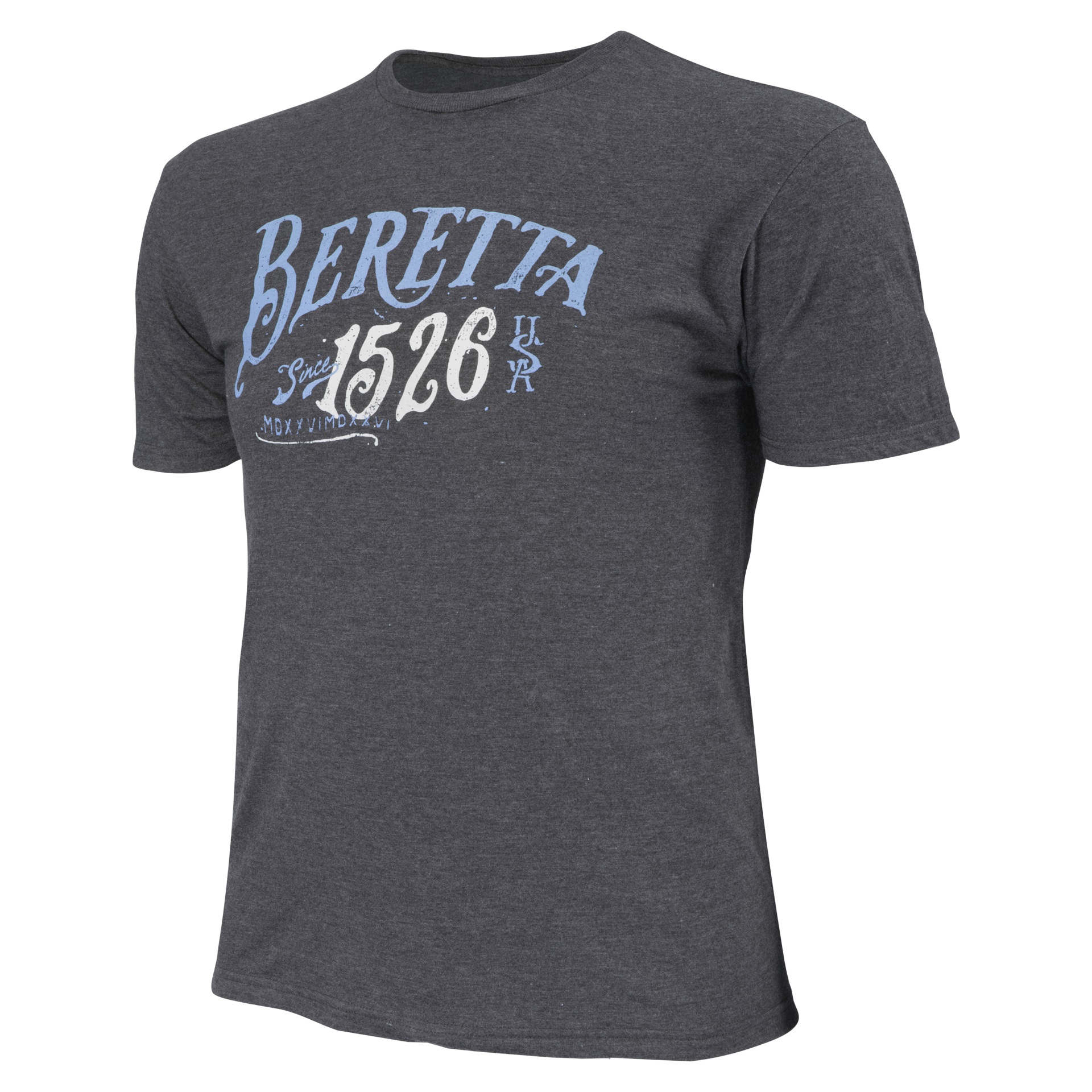 Image of BerettaUSA | 1526 Logo T-Shirt Charcoal, Cotton, Size: 2XL