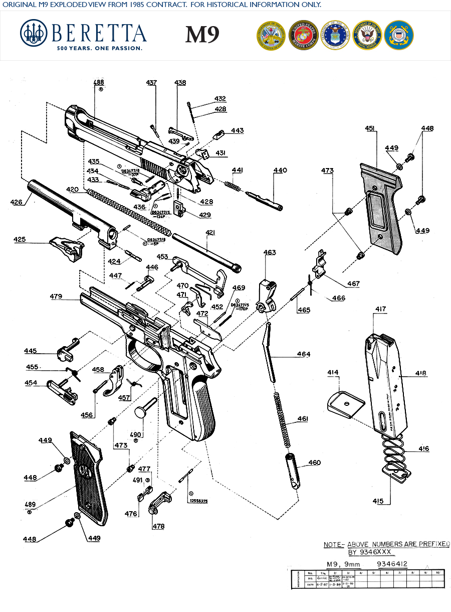 M9 Exploded View