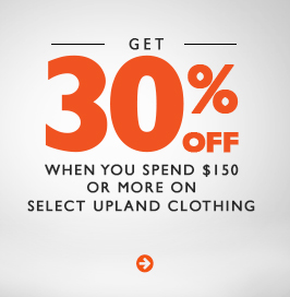 30% Off on Upland Clothing