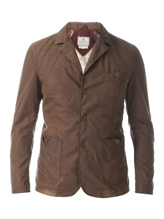 Beretta Man's Summer Wax Cotton Sport Jacket